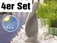 Solar-LED-Steinleuchte<br />&quot;Wave&quot;, 4er-Set