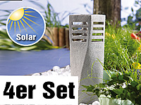 "Lunartec Solar-LED-Steinleuchte ""Tower"", 4er-Set Lunartec"