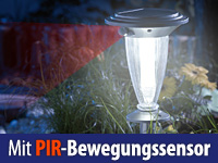 Lunartec Solar-LED-<br />Laterne &quot;Basic&quot; mit PIR-Bewegungs...
