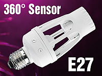 Lunartec Lampenfassung<br />mit 360&deg;-PIR-Bewegungssensor,...
