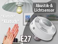 lunartec lampenfassung mit akustik lichtsensor e27 4er set. Black Bedroom Furniture Sets. Home Design Ideas