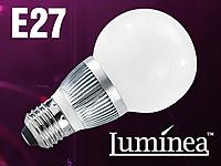 Luminea Energiespar-LED-<br />Lampe mit 3x1W-LEDs, E27, Bu...