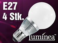 Luminea Energiespar-LED-<br />Lampen mit 3x1W-LEDs,E27,war...