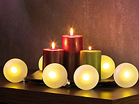 led leinwandbild mit romantischem kerzenflackern adventskranz ebay. Black Bedroom Furniture Sets. Home Design Ideas