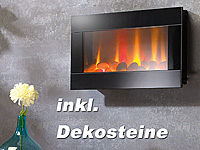 Lunartec led wandkamin mit led flammen for Rote dekosteine