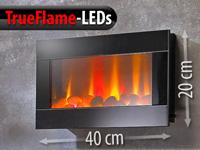 lunartec led wandkamin mit led flammen. Black Bedroom Furniture Sets. Home Design Ideas
