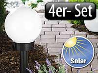 lunartec led solar kugellampe 4er set gro refurbished. Black Bedroom Furniture Sets. Home Design Ideas