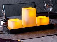 Britesta Feng-Shui-<br />Dekoration: LED-Echtwachskerzen a...