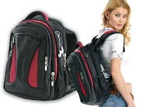 Xcase Notebook-Rucksack<br />mit XL-Stauraum &amp; MP3-Player...