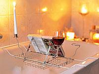 infactory<br />Badewannenauflage mit Buchst&uuml;tze, Glashalt...