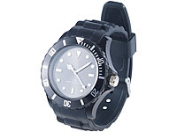 PEARL Silikon<br />Armbanduhr schwarz