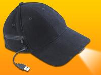 infactory LED-Baseball-<br />Cap mit 2 wiederaufladbarem M...