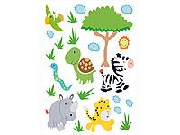 infactory Sticker-Bogen: Tierisch lustige Wandtattoos fürs ...