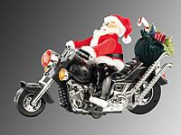 infactory weihnachtsmann santa bike auf motorrad. Black Bedroom Furniture Sets. Home Design Ideas
