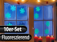 infactory Schneeflocken-<br />Fensterdeko &quot;Glow-in-the-dar...