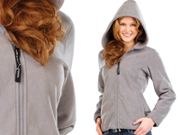 PEARL outdoor Fleece-<br />Jacke mit Kapuze f&uuml;r Frauen, Gr...