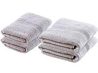 wilson gabor handtuch als geschenk handtuch set 2x 50x100 cm 2x 140x70 cm grau baumwolle. Black Bedroom Furniture Sets. Home Design Ideas