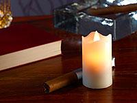 Britesta LED-<br />Echtwachskerze mit beweglicher Flamme, ...