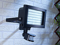 Luminea Strahler mit<br />60 LEDs &amp; PIR-Bewegungssensor, ...