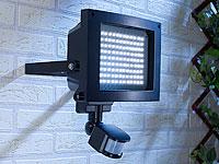 Luminea Strahler mit<br />117 LEDs &amp; PIR-Bewegungssensor,...