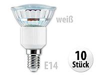 Luminea SMD-LED-Lampe,<br />E14, 24 LEDs, wei&szlig;, 130 lm, 1...