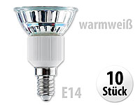 Luminea SMD-LED-Lampe,<br />E14, 48 LEDs, warmwei&szlig;, 250 l...
