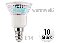 Luminea LED-Spot E14<br />3,3W warmwei&szlig; 300 lm 120&deg; 10er-...