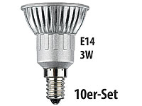 Luminea LED-Spot 3x 1W-<br />LED, warmwei&szlig;, E14, 210 lm, 1...