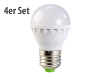 PEARL LED-Lampe, 3W,<br />E27, warmwei&szlig;, 3000K, 4er-Set
