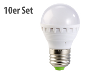 PEARL LED-Lampe, 3W,<br />E27, warmwei&szlig;, 3000K, 10er-Set
