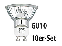 Luminea Halogenlampe Reflektor GU10, 230V, 28W, 10er-Set Luminea