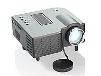 SceneLights Mini-LED-Beamer LB-3001.mini mit 60 Lumen und Media-Player SceneLights LED Beamer