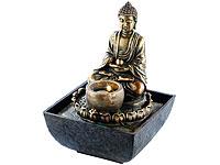 infactory Beleuchteter<br />Zimmerbrunnen mit Buddha