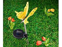 Lunartec Solar-LED-<br />Gartendeko Schmetterling m. leuch...