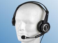 Q-Sonic Multimedia<br />Headset S720 mit Schwanenhals-Mik...