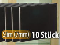 cd slim soft boxen im 10er set 7 mm schwarz. Black Bedroom Furniture Sets. Home Design Ideas