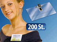 General Office Namensschild-Halter 200 Stück General Office Namensschildhalter