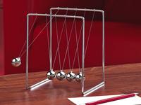 Newton's Cradle,<br />Kugelsto&szlig;pendel