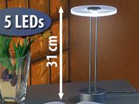 lunartec led tischlampe ufo aus hochwertigem edelstahl. Black Bedroom Furniture Sets. Home Design Ideas