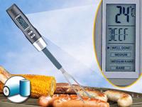 Grillgabel /& Bratgabel mit LCD Anzeige Grillthermometer Grill BBQ Thermometer