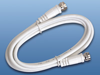 Sat.-Anschlu&szlig;kabel (F-<br />Stecker) 5m wei&szlig; doppelt gesch...