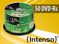 Intenso DVD-R 4.7GB 16x, 100er-Spindel Intenso DVD Rohlinge