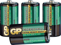 Greencell Batterie Baby<br />Typ C, 4er-Pack