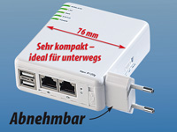 7links 6in1 Multi-WLAN-Router File-,Print-& IP-Server 54Mbit 7links