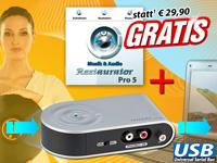 auvisio USB-Stereo-<br />Phono-Vorverst&auml;rker mit Bearbeitu...