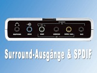 auvisio 7.1 Kanal USB<br />2.0 PC-Verst&auml;rker &quot;Sound Box&quot;