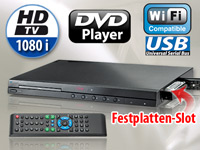 auvisio Full-HD-<br />Medienzentrale HVD-1080.WiFi mit DVD...