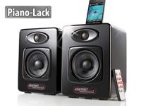 auvisio Design-Stereo-<br />Lautsprecher mit Dock f&uuml;r iPod...