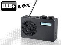 VRradio Mobiles DAB+/FM-<br />Radio DOR-100.rx mit RDS-Fun...