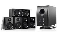 auvisio 5 1 surround sound system mit fernbedienung. Black Bedroom Furniture Sets. Home Design Ideas